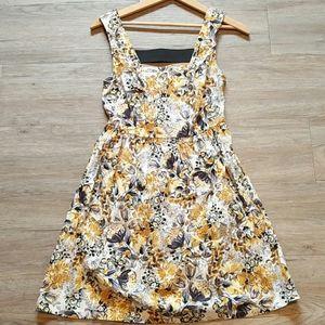 Bebop | Yellow and black floral dress